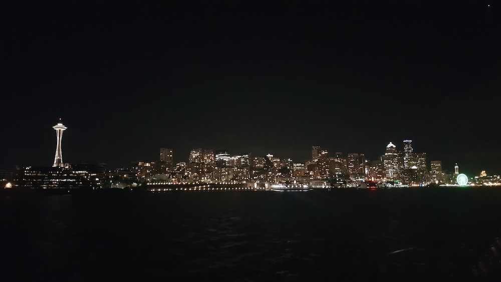Seattle skyline from a cruise